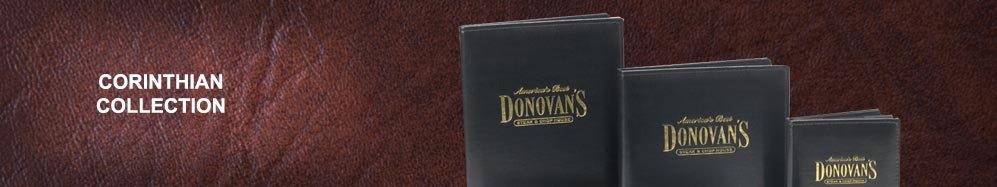 Corinthian menu covers