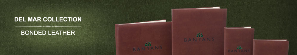 Del Mar bonded leather menu covers