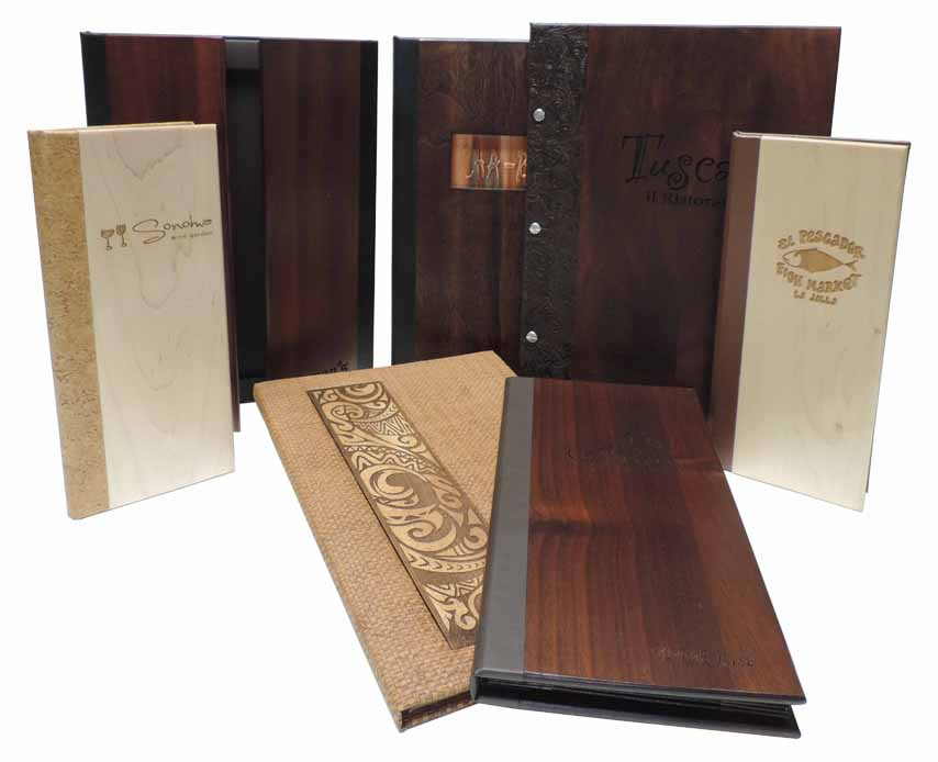 Genuine Wood Menu Covers