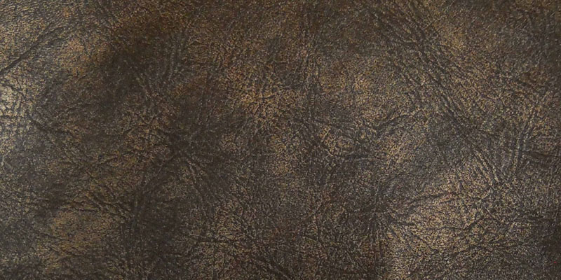 Del Mar distressed cowhide menu covers Muddy Copper Swatch