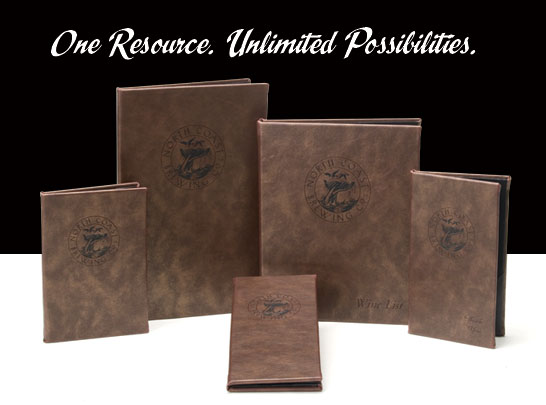 Distresed Cowhide Menu Covers